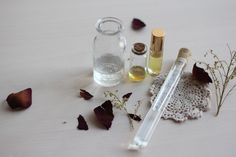 DIY Natural Moisturizing Skin And Hair Mist | Ingredients; rose water- diluted halfway with water, Vegetable glycerin  or Jojoba oil, Essential oils of your choice for scent