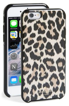Upgraded to an iPhone 6, and loving this fun leopard print case | Kate Spade