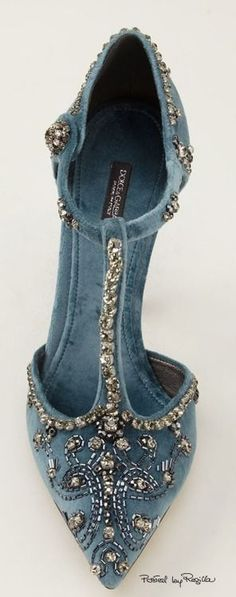 D & G Jeweled Velvet Pump | The House of Beccaria | Chaussures | Pinterest | Velvet, Pumps and House