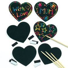 Kids Craft Scratch Art Heart Magnets to Design with Love for Valentines or Mothers Day (Pack of Valentine's Day Crafts For Kids, Valentine Crafts For Kids, Mothers Day Crafts, Craft Activities For Kids, Valentines Diy, Art For Kids, Classroom Activities, Children Crafts, Daycare Crafts