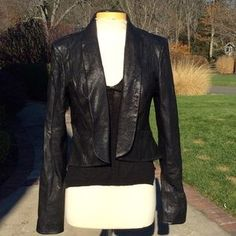 7 for all Mankind leather Blazer - ... soooooooooo cute - especially in the back because it  hangs like a peplum & has a vent!!! A MUST have !!!! TRUST..... pERRY