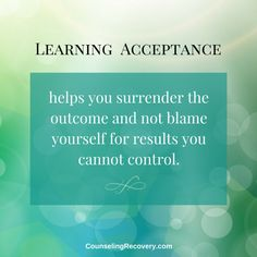Learning Acceptance — Counseling Recovery, Michelle Farris, LMFT