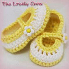 PDF Crochet Pattern for Baby Teaparty Maryjanes 4 by ebethalan