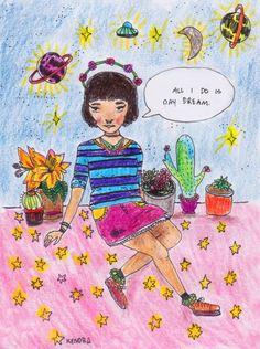 [ • daydreamer - art - by Kendra - unadoptable.tumblr.com • ]