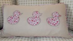 3 little ducks applique Cushion with zip by TheCraftyFoxBoutique, £26.00