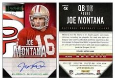 Joe Montana 2013 Panini Playbook 48 Autograph (Green) (#5/5)