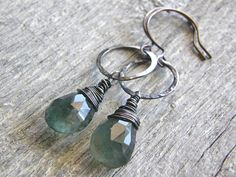 Hey, I found this really awesome Etsy listing at https://www.etsy.com/ca/listing/463475694/moss-aquamarine-and-hammered-sterling