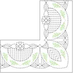 Quilting for a wide border - shop for lots of good border patterns