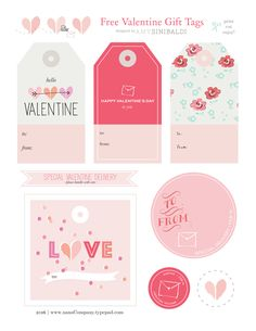 Free Valentine tag printable at nanaCompany today! Valentines Day Food, Valentines Gifts For Boyfriend, Valentine Special, Valentines For Kids, Valentine Gifts, Valentine Ideas, Valentines Design, Homemade Valentines, Valentine Wreath
