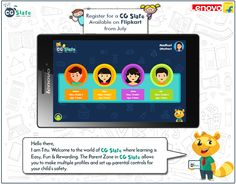 Titu's world of CG Slate makes sure your child learns the best, while staying safe!   #Child #Education #CGSlate