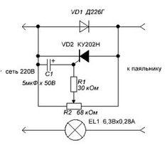 Регулятор напряжения на тиристоре ку202н