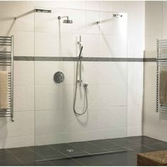 How to Add Handicap Rails for Bathrooms : Heavenly Image Of Bathroom Decoration Using Clear Glass Shower Walls Including Dark Grey…