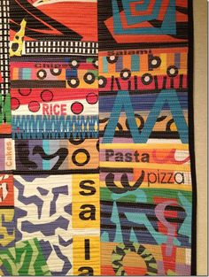 From the Contemporary Quilt exhibit at Edsel Ford House in Grosse Pointe Shores, Michigan
