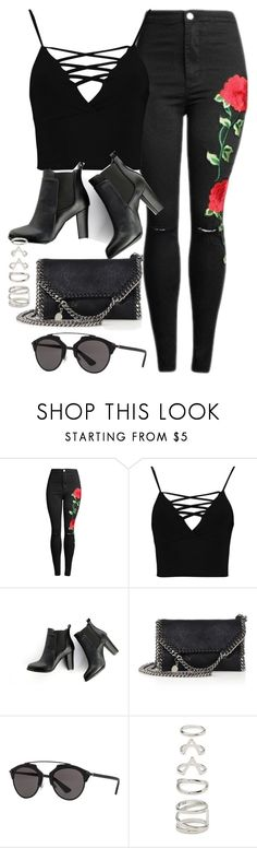 """Sin título #12258"" by vany-alvarado ❤ liked on Polyvore featuring Boohoo, SWEET MANGO, STELLA McCARTNEY, Christian Dior and Forever 21"