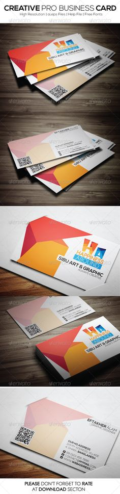 Cost effective business cards design businesscards creative pro business card by easiblu please dont forget to rate my itemsthank you featureseasy to edit optimized for printing 300 ppi reheart Image collections