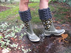 Ravelry: Reversible Cabled Leg Warmers, Welly, or Rainboot Liner pattern by Autumn Frost