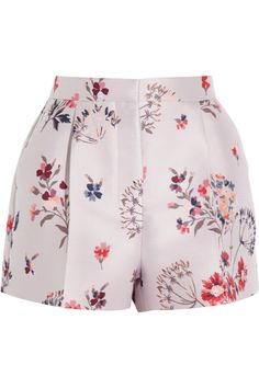 Stella McCartney|Warwick high-rise floral-jacquard shorts|NET-A-PORTER.COM