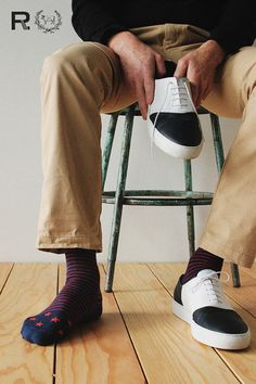 Union Thread - Patriot Navy & Red Socks :: Maxton Men