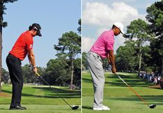 "Comparing Tiger's & Rory's swings.  ""Side-by-side assessments of their techniques are irresistible."""
