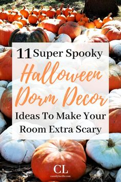 Make your dorm extra spooky this Halloween with these 11 dorm decor ideas! Halloween Dorm, Easy College Halloween Costumes, Halloween Party Snacks, Halloween Season, Scary Halloween, Halloween Makeup, Zombie Makeup, Scary Makeup, Dorm Door Decorations
