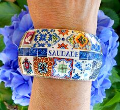 Antique Azulejo Tile Jewelry from Portugal!  SAUDADE https://www.etsy.com/shop/Atrio?ref=si_shop
