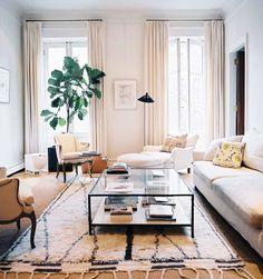 Beni Ourain, fiddle leaf fig, #livingroom