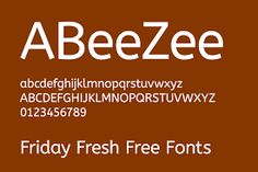 Image result for abeezee font