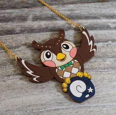 Animal Crossing Blathers collier par ObakeStyle sur Etsy