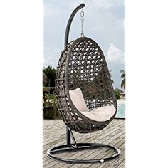 Awesome DESTINY Coco H ngesessel Polyrattan H ngekorb Swingsessel