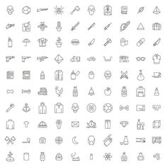 Design Elements – 100 Vector Symbols – Set 01