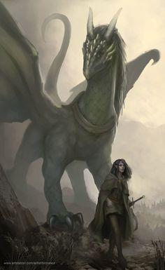 Arya and Firnen, the horns are weird again