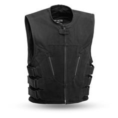 First Manufacturing Commando vest. High-quality heavy hitter canvas with USA Flag lining on the inside. Roll-up collar, center zipper, slash pockets. Swat Vest, Bullet Vest, Leather Biker Vest, Airsoft Helmet, Raw Denim, Outdoor Outfit, Access Panel, American Flag, American Legend