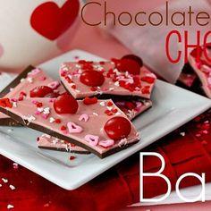 Chocolate Cherry Valentines Day Bark