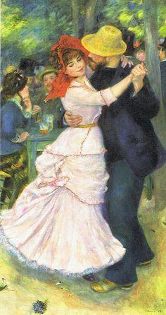ピエール=オーギュスト・ルノアール Pierre-Auguste Renoir『プージヴァルのダンス』