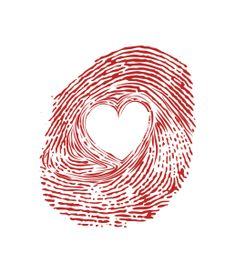 Heart fingerprint – stencil----this would be so cute embroidered on some fabric and framed.