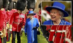 The Queen in royal blue to present new colours to the Welsh Guards