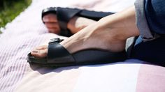You love your Birkenstocks, but wearing them poolside or at the beach could put a (literal) damper on that love affair. That's why we found this rubber version of the popular sandal. The lightweight Madrid Eva Birkenstocks are made from a soft, shock-absorbent plastic. It forms to your foot and offers arch support, so you never have to compromise on comfort.