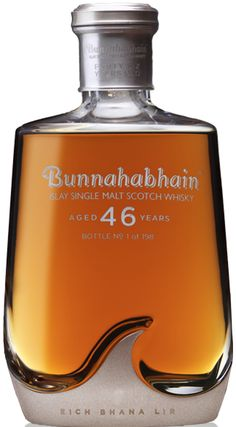 Bunnahabhain Single Islay Malt Scotch Whisky 46 year old : Liquor Depot; Whiskey Cocktails, Wine Drinks, Alcoholic Drinks, Whisky Single Malt, Peach Drinks, St Patricks Day Drinks, Strong Drinks, Whisky Bar, Scotch Whiskey