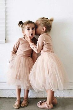 Neutral Tutu Dress for Girls Cute Outfits For Kids, Toddler Girl Outfits, Cute Kids, Baby Girl Fashion, Toddler Fashion, Kids Fashion, Tutu Outfits, Baby Outfits, Little Ballerina