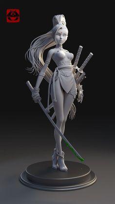 Drawing Design Girl Warrior Art by hu zheng – cgvilla Zbrush Character, 3d Model Character, Character Modeling, Character Concept, Character Art, Concept Art, 3d Modeling, Art Manga, Art Anime