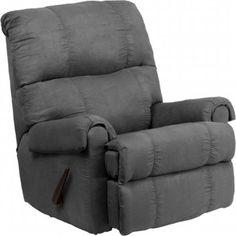 Flash Furniture WM-8700-113-GG Contemporary Flatsuede Graphite Microfiber Rocker Recliner
