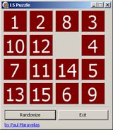 15 Puzzle Game with Delphi Source Code: 15 Puzzle Game with Delphi Source Code - FDA(C) Contest Entry #37 by Paul Maravelias