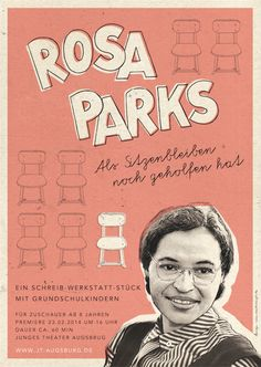 Poster design and illustration fot the theater piece »Rosa Parks – Als Sitzenbleiben noch geholfen hat« by Junges Theater Augsburg. A theater piece about isolation, discrimination and resistance.