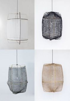 fabric lantern pendants