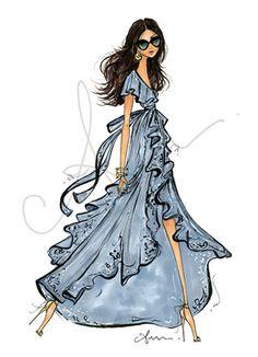 Fashion illustration by Anum Tariq Foto Fashion, 50 Fashion, Fashion Dolls, Girl Fashion, Fashion Dresses, Fashion Design, Fashion Illustration Sketches, Illustration Mode, Fashion Sketches