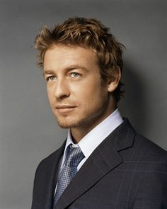 """Simon Baker. For some reason this was the actor (English guy in """"Devil Wears Prada"""") that I envisioned while reading """"50 Shades of Grey."""""""