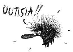 Uutisia! Hedgehogs, Funny Texts, Finland, Art Gallery, Jokes, Google, Happy, Animals, Design