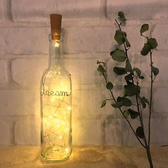 ワイン ボトルランプ 名入れ/誕生日/ウェディング