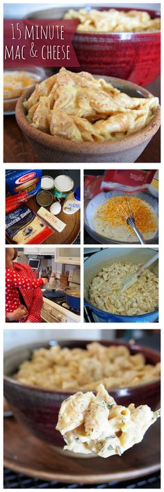 15 minute mac and cheese. So good but you need way more pasta than called for. I Love Food, Good Food, Yummy Food, Paula Deen, Quinoa, Great Recipes, Favorite Recipes, Yummy Eats, One Pot Meals