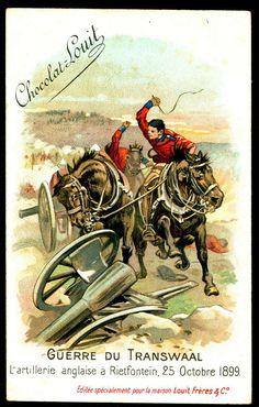 "Chocolate Louit ""The Transvaal War"" Boer War) English Artillery at Rietfontein, October 1899 Inner World, Folk Music, Zulu, Warfare, Archaeology, Astronomy, Africa, British, Cigarette Box"